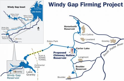 Map of the Windy Gap Firming Project.