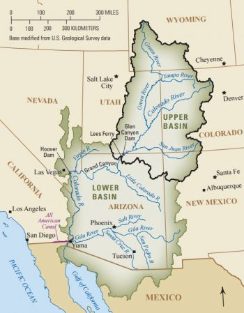 Map of the Colorado River Basin.