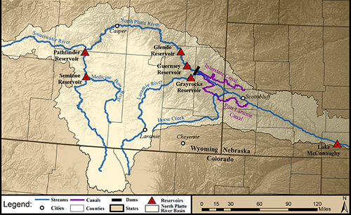 Map of the North Platte River Basin.