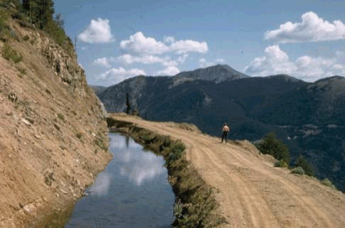 Image of the Grand Ditch in Rocky Mountain National Park